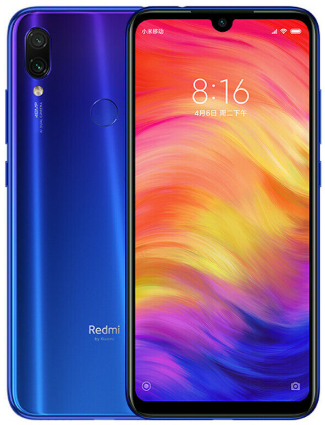 "Xiaomi Redmi Note 7 Blue 4/128 Gb, 6.3"", Snapdragon 660, 3G, 4G (Global Rom)"