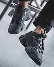"""Женские и мужские кроссовки Adidas Yeezy Boost 500 """"Utility Black"""", фото 3"""