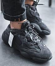 """Женские и мужские кроссовки Adidas Yeezy Boost 500 """"Utility Black"""", фото 2"""