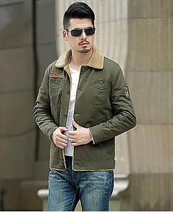 Куртка чоловіча джинсовий на хутрі демисезон/еврозима