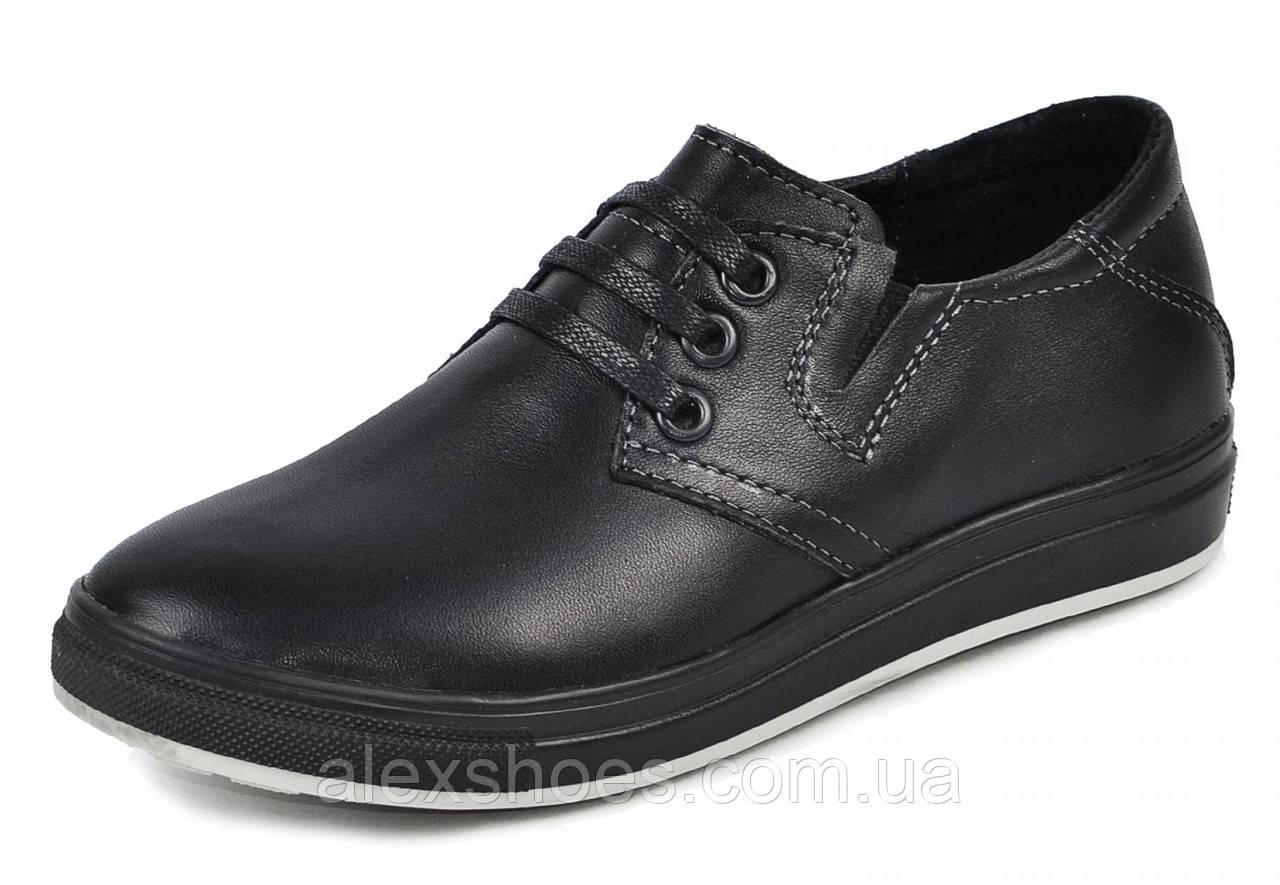 Туфли подростковые для мальчика из натуральной кожи от производителя модель МАК789