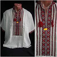 "Рубашка с вышивкой ""Святополк"" ручная работа, хлопок или лен, 48-58 р-ры, 850/750 (цена за 1 шт. + 100 гр.), фото 1"