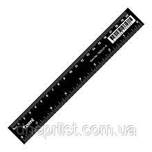 Линейка пластиковая, 20 см, черная Axent