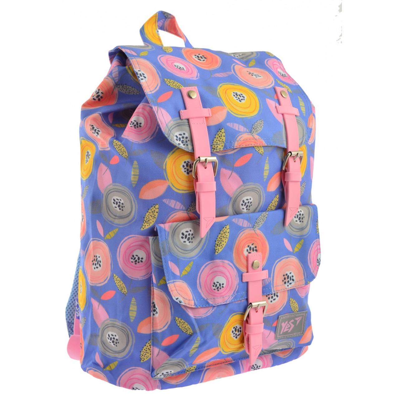 """Рюкзак молодежный YES """"Daisy"""" для девушек синий с рисунком"""