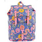 """Рюкзак молодежный YES """"Daisy"""" для девушек синий с рисунком, фото 5"""