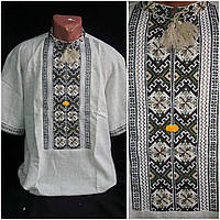 "Вышитая рубаха ""Святополк"" мужчине, домотканка или лен, ручн.раб., 48-58 р-ры, 850/750 (цена за 1 шт+100гр), фото 1"