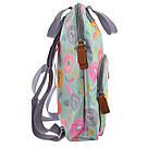 """Рюкзак молодежный YES ST-26 """"Daisy"""" для девушек бирюзовый с рисунком (сумка-рюкзак), фото 3"""