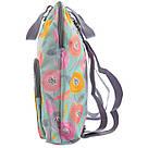 """Рюкзак молодежный YES ST-26 """"Daisy"""" для девушек бирюзовый с рисунком (сумка-рюкзак), фото 2"""