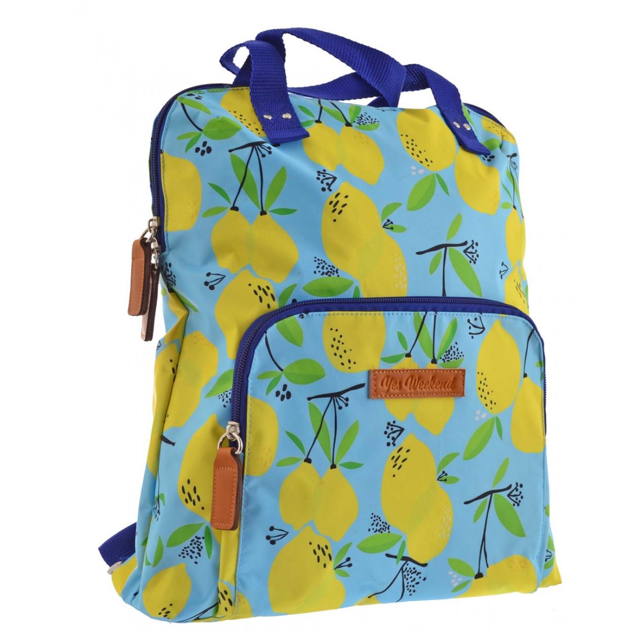 """Рюкзак молодежный YES ST-26 """"Citrus"""" для девушек голубой с рисунком"""