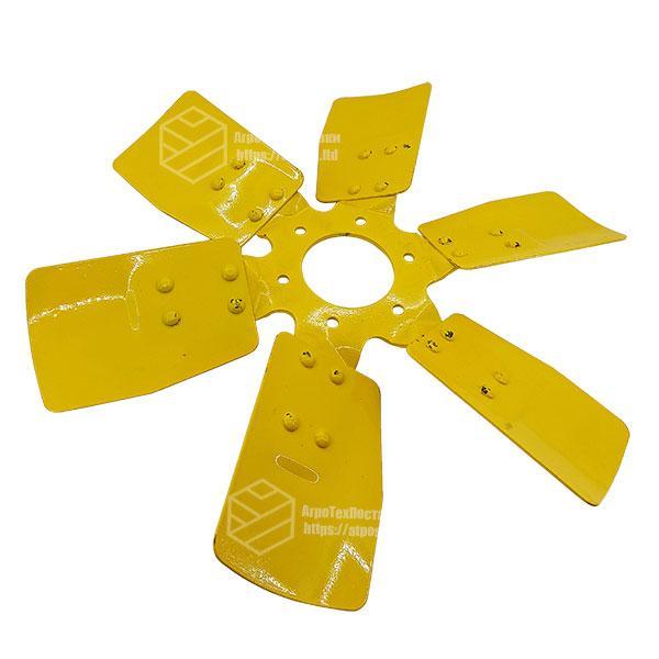 245-1308040. Вентилятор системы охлаждения Д-243, Д-245 металлический 6 лопастей