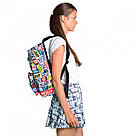 """Рюкзак молодежный YES ST-17 """"Real Life"""" унисекс с разноцветными надписями, фото 6"""