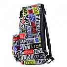 """Рюкзак молодежный YES ST-17 """"Real Life"""" унисекс с разноцветными надписями, фото 2"""