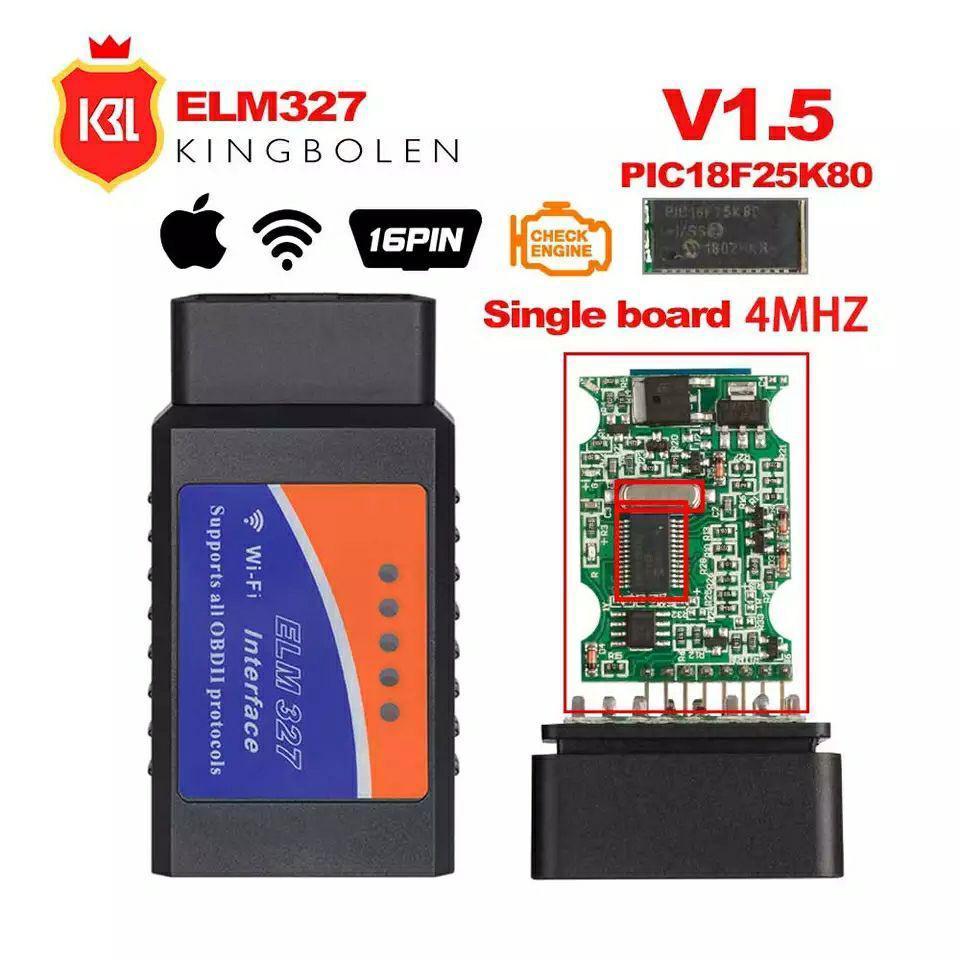 Android/iOs/PC WiFi OBD2 авто диагностический инструмент ELM327 V1.5 (Чип PIC18F25K80)