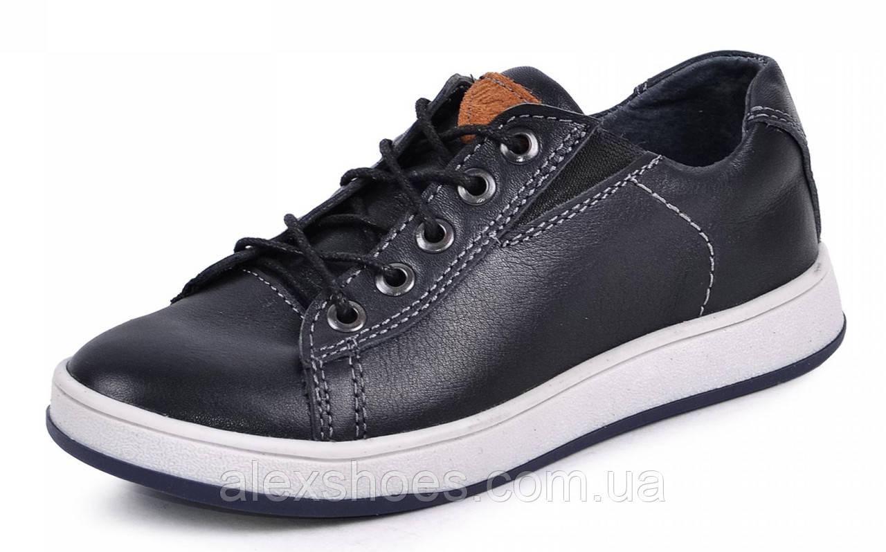Туфли подростковые для мальчика из натуральной кожи от производителя модель МАК780