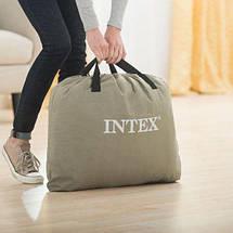 Надувной матрас Intex 64141 (99х191х25 см) с подголовником  Dura-Beam, фото 3