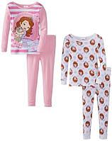 Детские трикотажные пижамы Disney Princess  (2 шт)  2 года