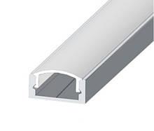 КОМПЛЕКТ!!! Профиль LED BIOM ЛП7 + рассеиватель прозрачный, (алюминий НЕанодированный + поликарбонат).