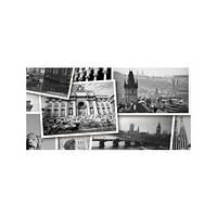 ABSOLUTE Collage черный Декор № 1 600*300