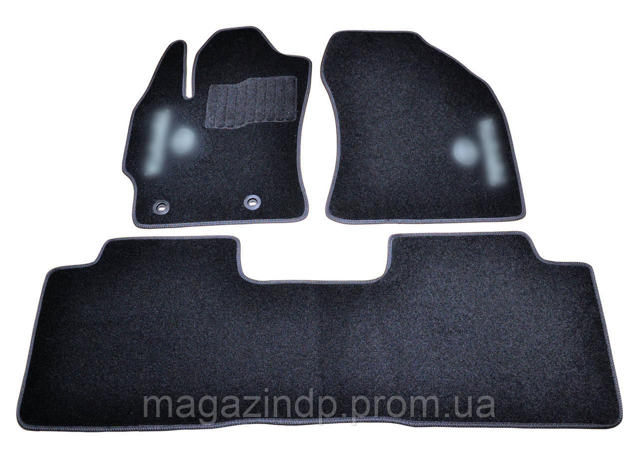 Коврики в салон ворсовые для Toyota Colla/Auris (2013-) /Чёрные, 3шт BLCCR1622 Код:541217706