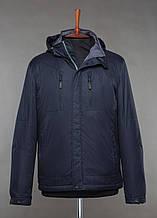 Мужская демисезонная куртка Black Vinyl TC18-1258. Мужская куртка большого размера.