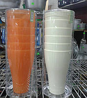 Алеана Набор пластиковых  стаканов  0,5 л в тубусе (22-73)