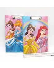 """Планшет с зажимом А4 """"Princess"""" одинарный, PVC"""