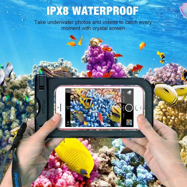 Чехол водонепроницаемый Mpow Waterproof  IPX8 для мобильных телефонов до 6