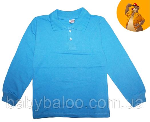 Рубашка Поло для мальчика длинный рукав(от 6 до 9 лет), фото 2