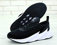 Кроссовки мужские Adidas Sharks реплика ААА+, размер 41-45 черный (живые фото)