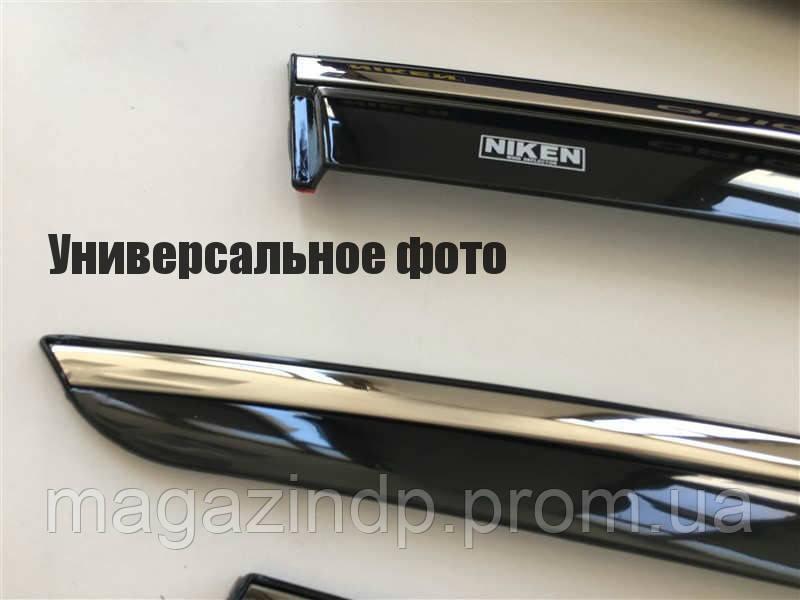 Дефлекторы окон (ветровики)  Rapid 2012- (с хром молдингом) 047sk070201 Код:849317474