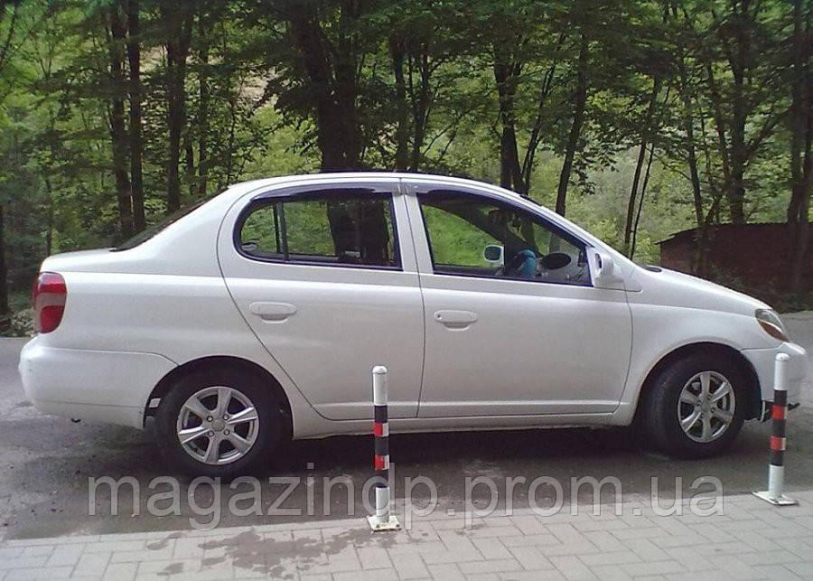 Дефлекторы окон (ветровики) TOYOTA Plz 1999-2005/Toyota Ec 2000-2005 Код:73655678