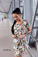 Платье женское мини летнее повседневное с яркими марками Smch3581