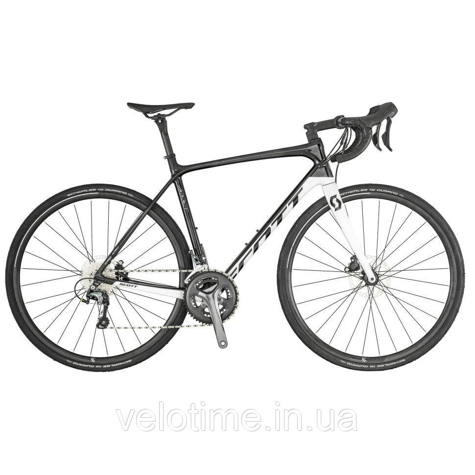 Scott Addict 30 disc 28 (KH) 2019  (XL, серый-белый)