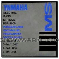 Yamaha Комплект струн для 4-струнной бас-гитары YAMAHA BSA200M BASS STAINLESS STEEL (48-106)