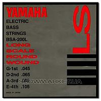 Yamaha Комплект струн для 4-струнной бас-гитары YAMAHA BSA200L BASS STAINLESS STEEL (45-105)