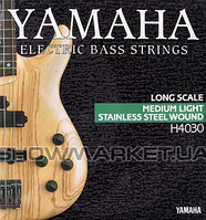 Yamaha Комплект струн для бас-гитары YAMAHA H4030 STAINLESS STEEL MEDIUM LIGHT 4 STRING (45-105)