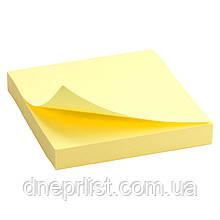 Бумага для заметок с липким слоем, 100 л, 75x75 мм, желтая / Delta by Axent