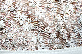 Блузка длинный рукав вставка гипюр+бусинки (от 6 до 14 лет), фото 3