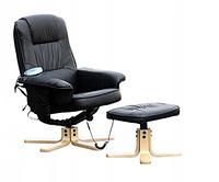 Массажное кресло с подставкой для ног REGOline + подогрев Качество ЕС, Польша