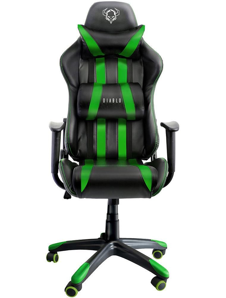 Игровое кресло Diablo One-X Зеленое Качество ЕС, Польша