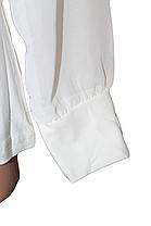 Блузка длинный рукав фатин тесьма+бусинки (от 6 до 12 лет), фото 3