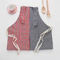 Nordic Style Kitchen Полосатый хлопковый фартук Маслостойкий Противообрастающий Приготовление Защитная одежда - 1TopShop