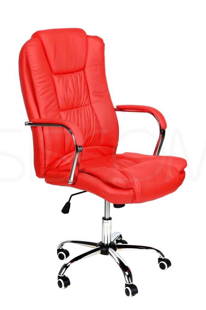 Кресло офисное Calviano MAX НАЛОЖКА КРАСНОЕ Польша Качество ЕС, Польша