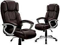 Офисное кресло BOSSE BBR коричневое Качество ЕС, Польша
