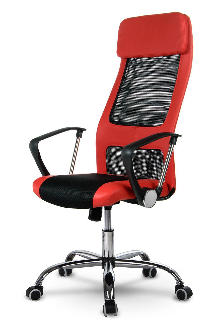 Офисное кресло с микросетки SOFOTEL RIO Красное Качество ЕС, Польша