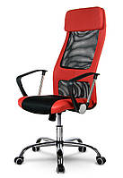 Офисное кресло с микросетки SOFOTEL RIO Красное Качество ЕС, Польша, фото 1