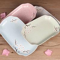 Хозтовары Creative Керамический Прямоугольные 12 дюймов Суши Western Пластина Посуда Посуда Снежинка - 1TopShop