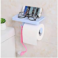 Бесшовные клей Тип Крюк Держатель рулона бумаги Многофункциональный стеллаж Ванная комната - 1TopShop