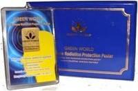 Защитная наклейка от излучения сотовых телефонов  Green World