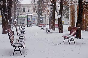 Фотокартина на холсте Зимний сквер в Сумах  50х70 см
